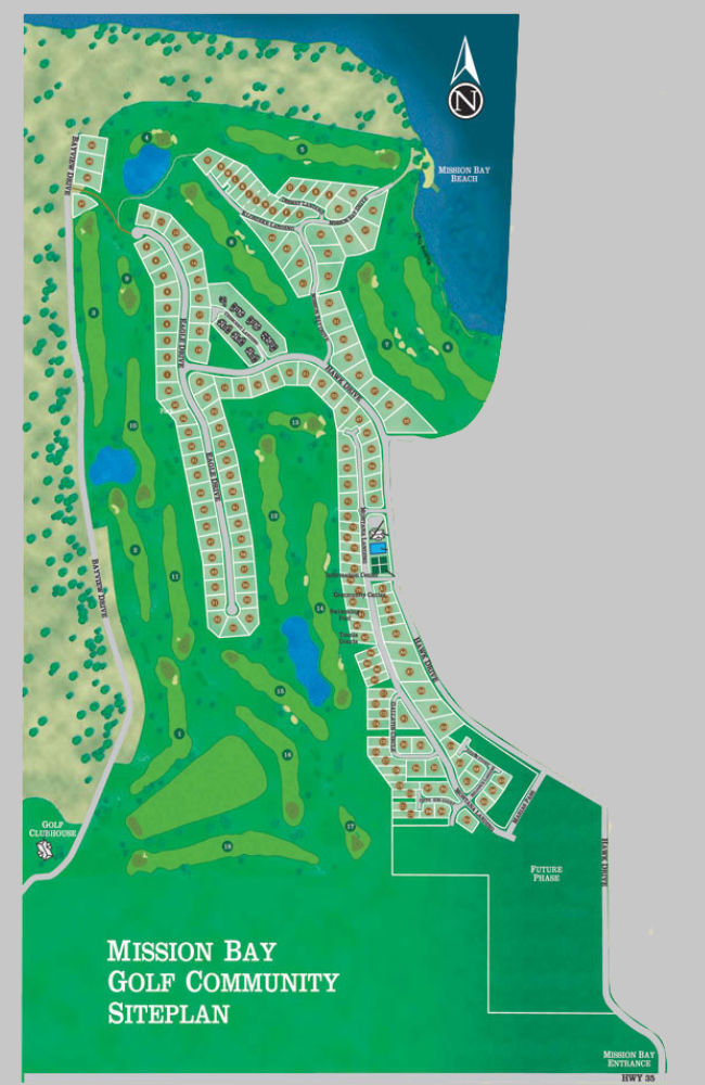 Mission Bay Golf Community Site Plan